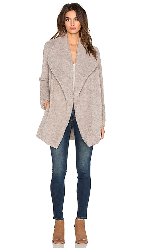BB Dakota Daylin Faux Fur Coat in Pale Camel