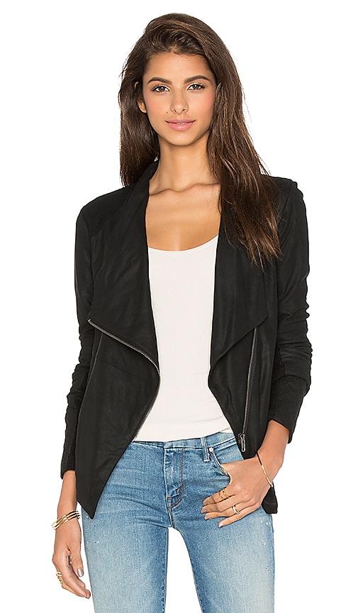BB Dakota Kyle Leather Moto Jacket in Black
