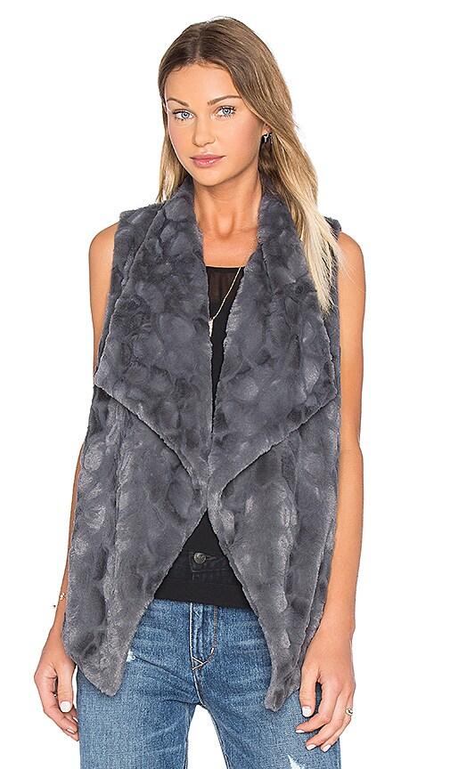 BB Dakota Jack By BB Dakota Cordova Faux Fur Vest in Charcoal