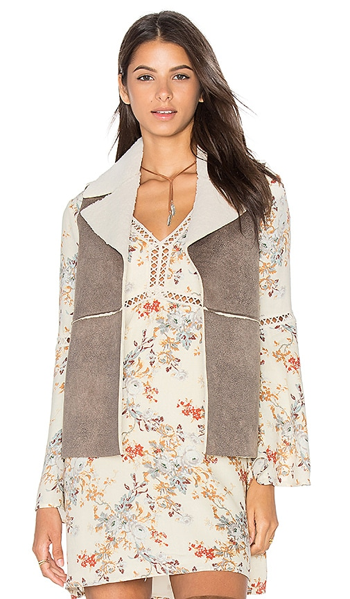 BB Dakota Jack By BB Dakota Delphine Vest in Light Gray