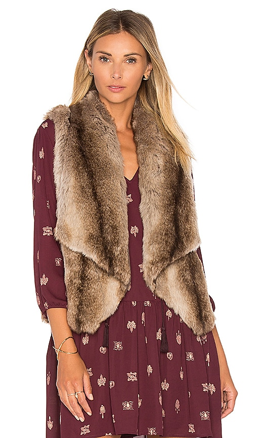 BB Dakota Jack By BB Dakota Julius Faux Fur Vest in Brown