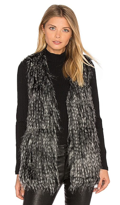 BB Dakota Jack By BB Dakota Agneta Faux Fur Vest in Gray
