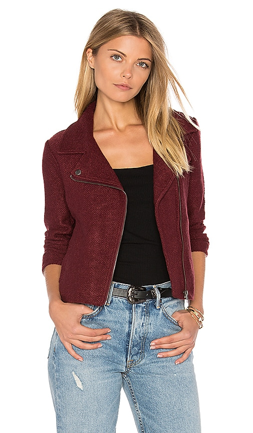 BB Dakota Jack By BB Dakota Reyna Moto Jacket in Burgundy