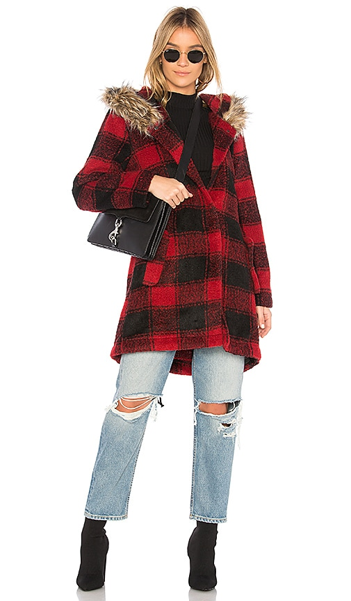 BB Dakota Lia Coat in Red