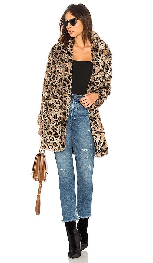 BB Dakota Rooney Faux Fur Coat in Brown