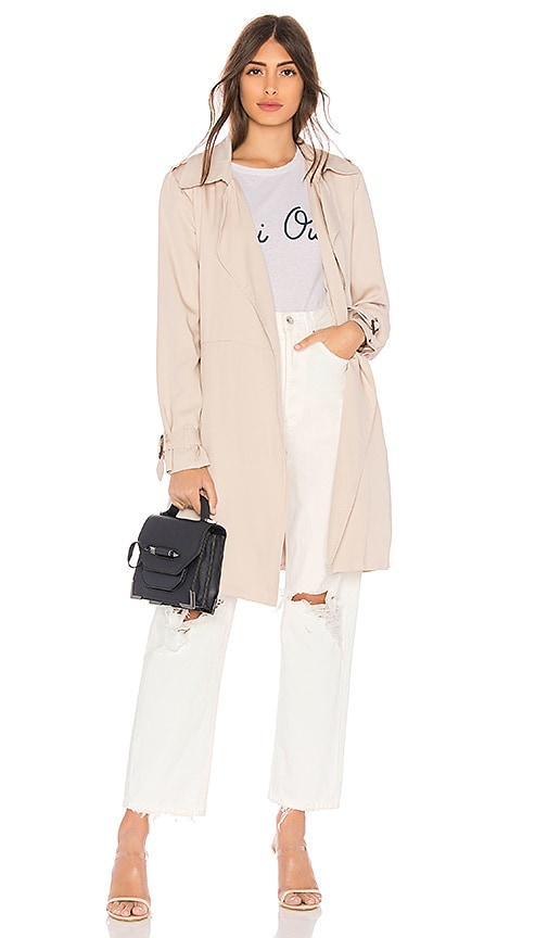 BB Dakota Rocco Trench Coat in Cream