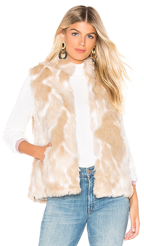 JACK by BB Dakota Faux Fur What Vest