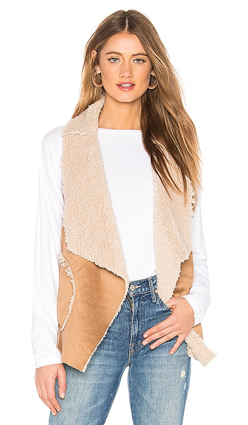 Easily Suede Faux Fur Vest