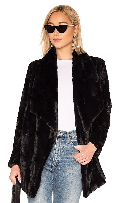 vintage BB Dakota rabbit fur chevron jacket