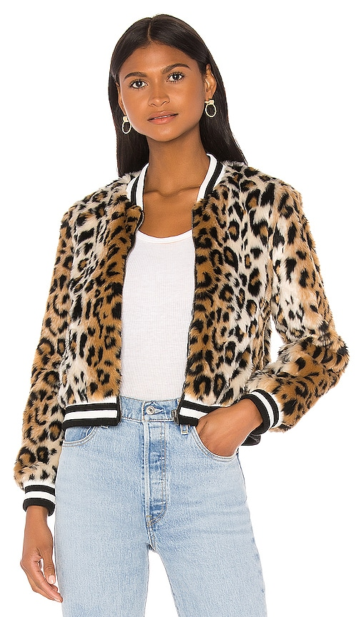 Cat Power Faux Fur Bomber Jacket