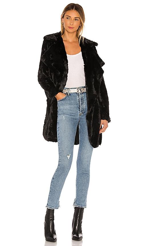 Jack By BB Dakota Shear Factor Faux Fur Coat