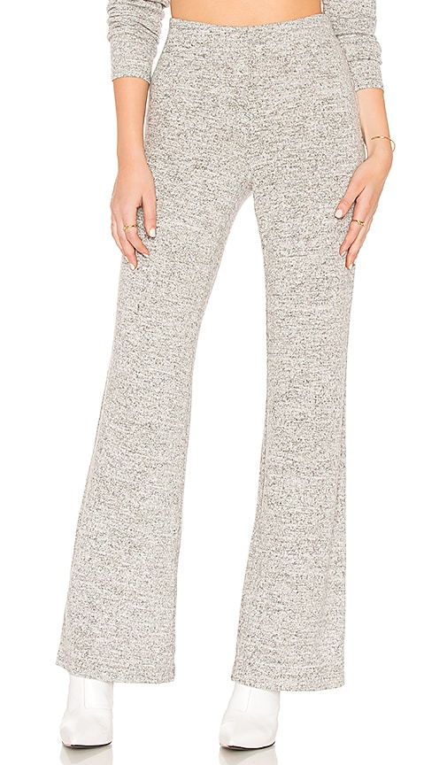 BB Dakota Lounge Wide Leg Pant in Gray