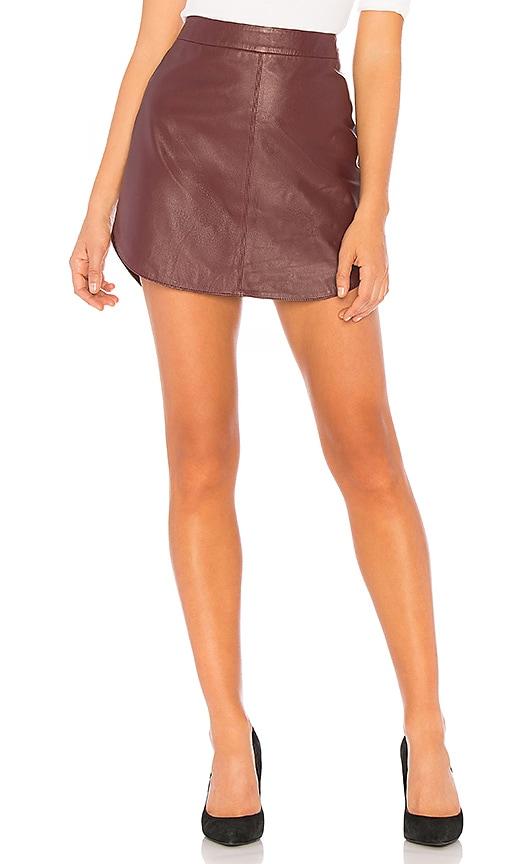 Conrad Leather Skirt