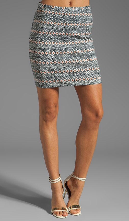 Bellfield Printed Ponte Skirt