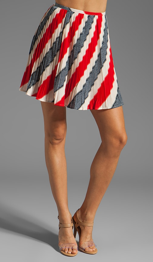 Dorene Stripe River Skirt