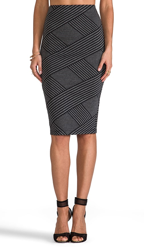 Caterina Stripe Pencil Skirt