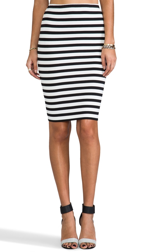 Yara Gatsby Stripe Pencil Skirt