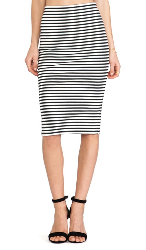 Cayleen Striped Pencil Skirt