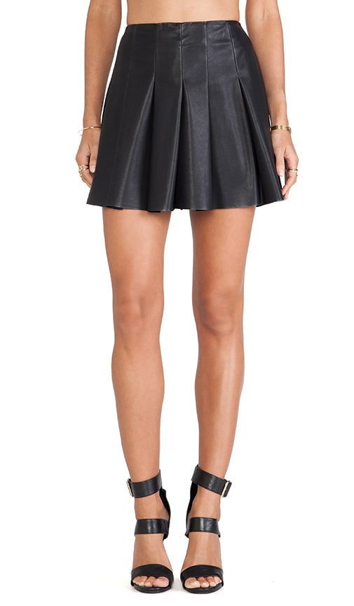 Nynette Faux Leather Skirt
