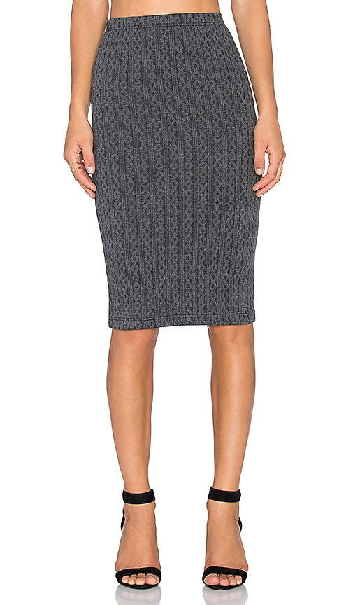 BB Dakota Jack by BB Dakota Cascade Pencil Skirt in Gray