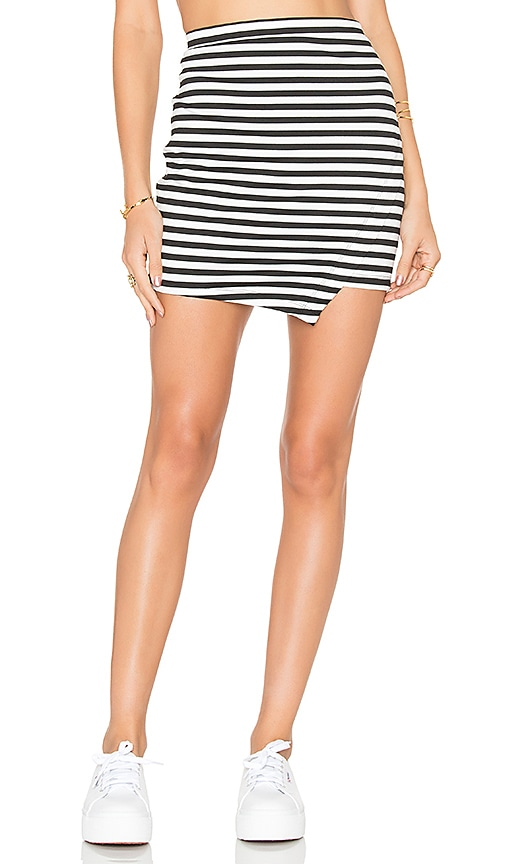 BB Dakota Jack by BB Dakota Marlowe Skirt in Black & White