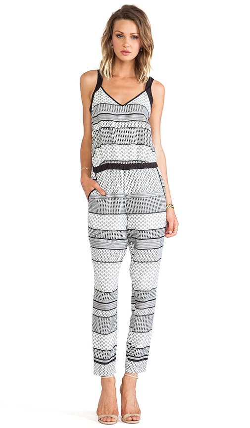 Holloway Striped Foulard Romper