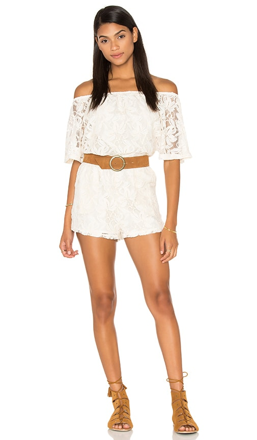 BB Dakota Nikola Romper in Ivory