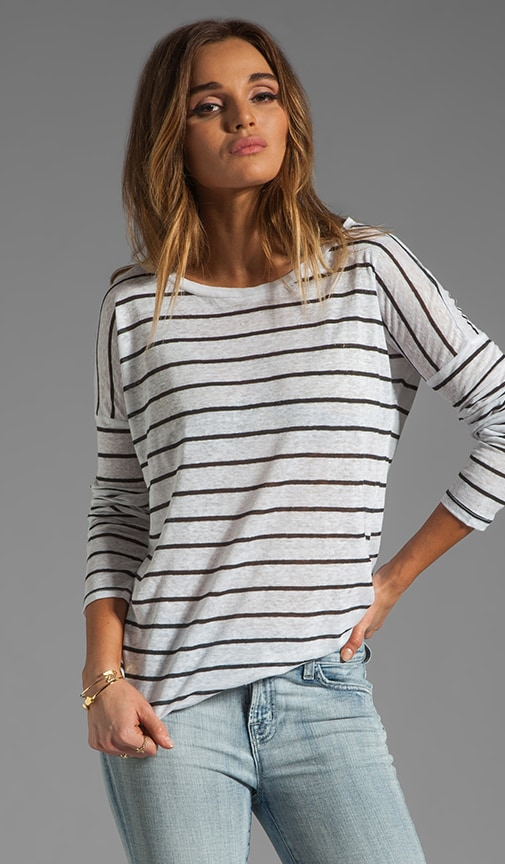 Callie Stripe Linen Jersey Top