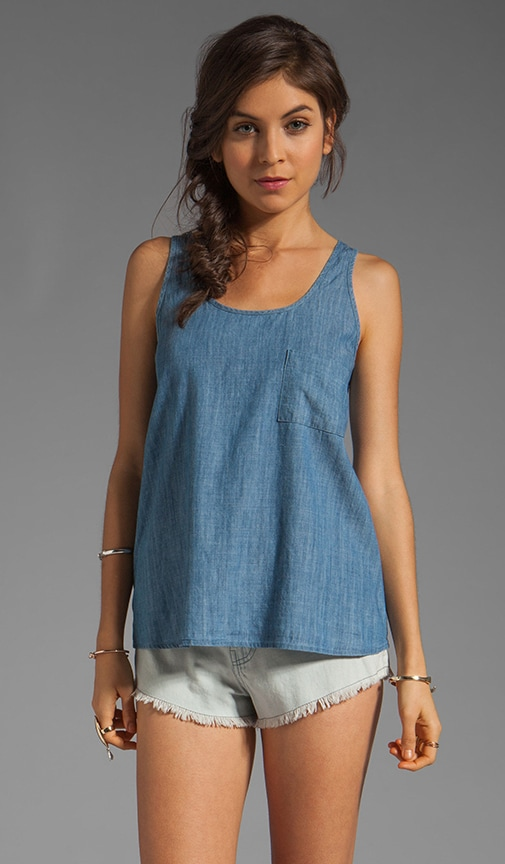 Lakeside Chambray Pocket Tank