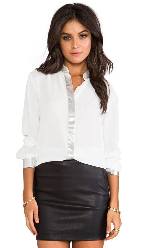Wheeler Lame Trim Blouse