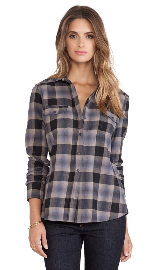 Collective Daisy Plaid Flannel Shirt