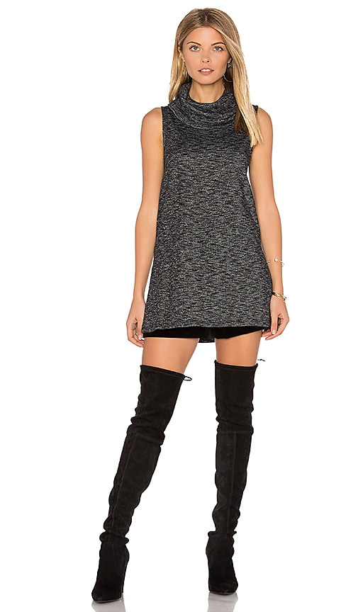 BB Dakota Jack By BB Dakota Elary Knit Tunic in Charcoal