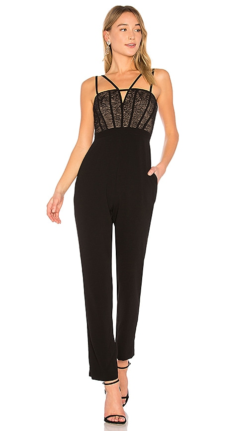 Olya Jumpsuit With Cutouts In Black in Black. - size S (also in L,M,XS) Bcbgmaxazria