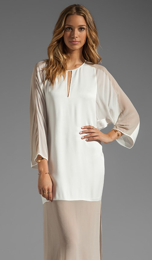 Runway Sheer Bottom Tunic Dress