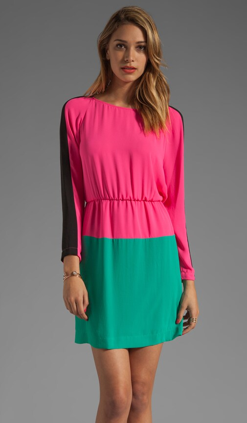 Long Sleeve Colorblocked Dress