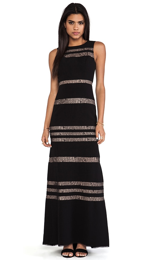 Sleeveless Striped Gown