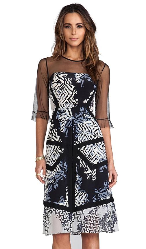 Combo Print Dress