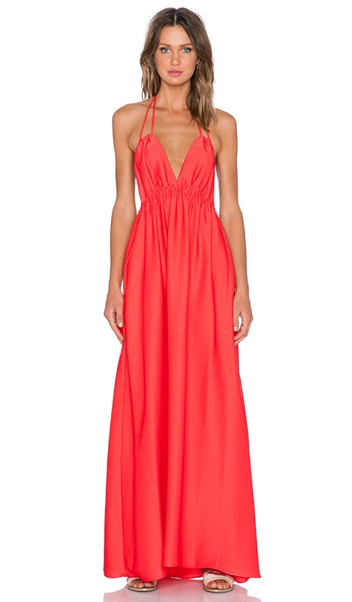 BCBGMAXAZRIA Kamala Maxi Dress in Bright Poppy