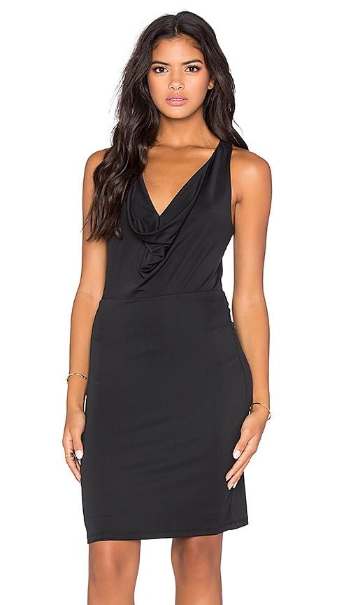 BCBGMAXAZRIA Drape Front Mini Dress in Black