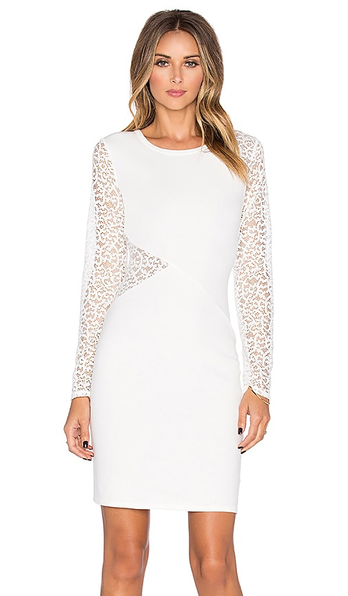 BCBGMAXAZRIA Jorden Lace Dress in Off White