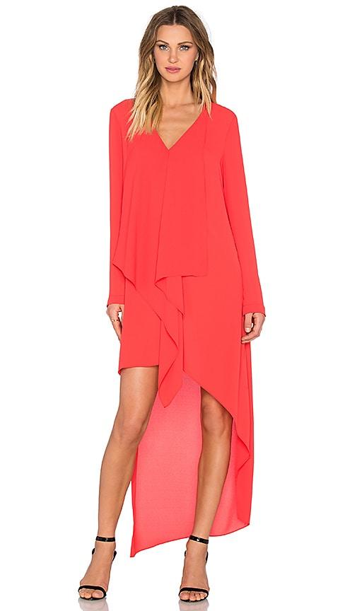 BCBGMAXAZRIA Kyndal Dress in Bright Poppy