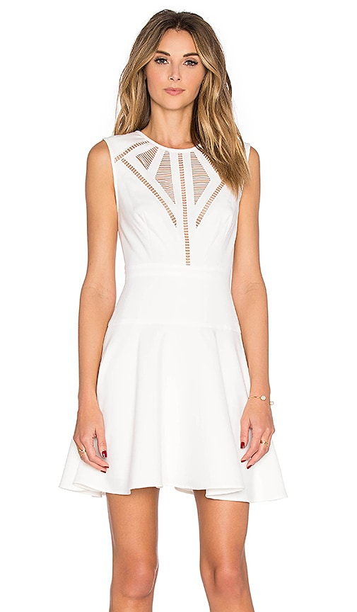 BCBGMAXAZRIA Detail Mini Dress in White