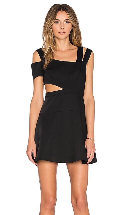BCBGMAXAZRIA Strappy Mini Dress in Black