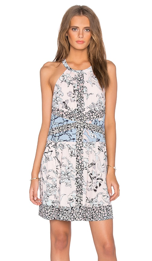 BCBGMAXAZRIA Sharlot Floral Midi Dress in Pink