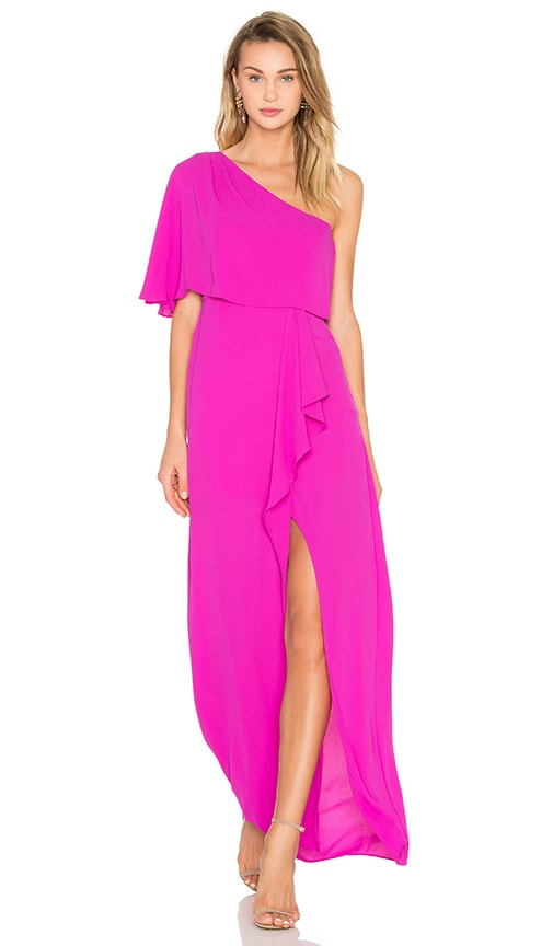 BCBGMAXAZRIA Secha One Shoulder Maxi Dress in Purple