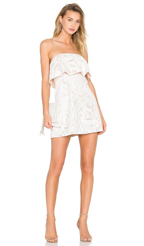 BCBGMAXAZRIA Leeah Strapless Dress in White