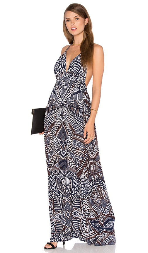 BCBGMAXAZRIA Kamala Maxi Dress in Navy