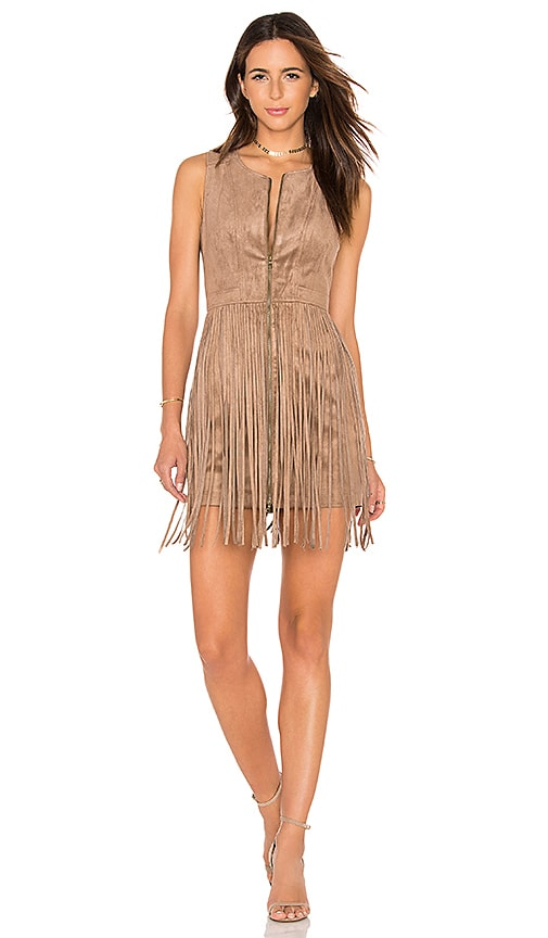 BCBGMAXAZRIA Hamiin Mini Dress in Light Mocha