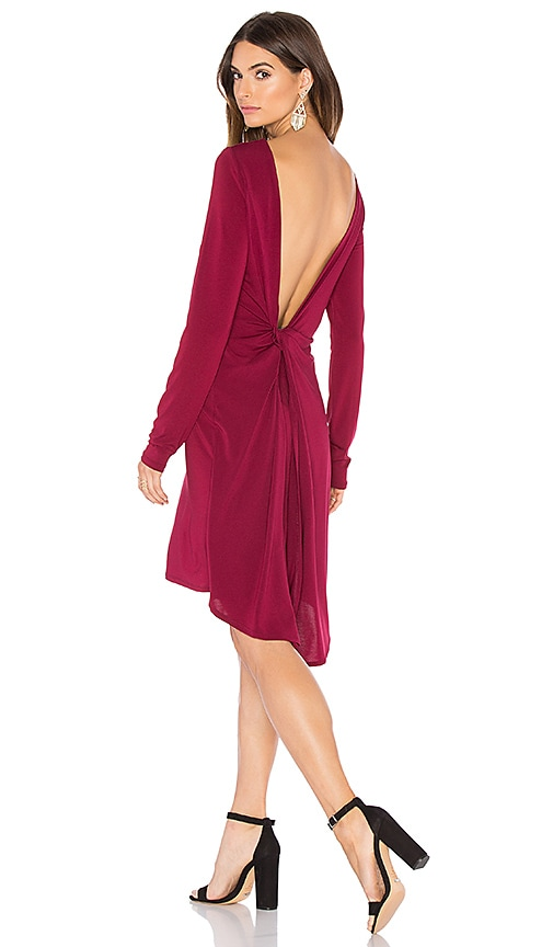 BCBGMAXAZRIA Celia Dress in Deep Cranberry
