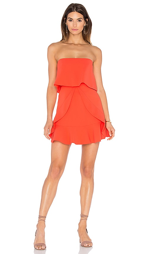 BCBGMAXAZRIA Charlot Mini Dress in Orange